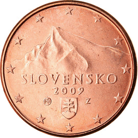 Slovakia, Euro Cent, 2009, MS(63), Copper Plated Steel, KM:95