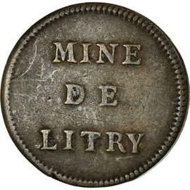 Coin, France, Mines de Litry, Litry, 15 Sous, Rare, VF(30-35), Copper