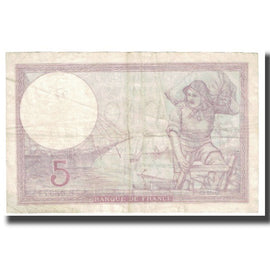 France, 5 Francs, Violet, 1940, 1940-11-28, VF(20-25), KM:72e