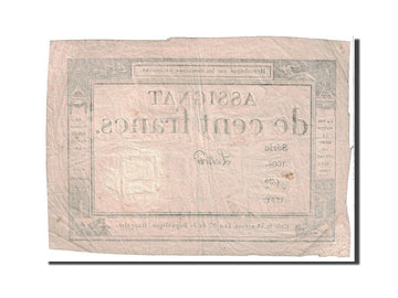 Banknote, France, 100 Francs, 1795, 1795-01-07, VF(30-35), KM:A78, Lafaurie:173