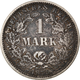 Coin, GERMANY - EMPIRE, Wilhelm I, Mark, 1875, Karlsruhe, VF(30-35), Silver