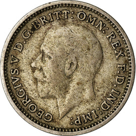 Great Britain, George V, 3 Pence, 1934, EF(40-45), Silver, KM:831