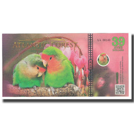 Banknote, Brazil, Dollar, 2018, 2018-07, ATLANTIC FOREST 39 DOLLARS, UNC(65-70)