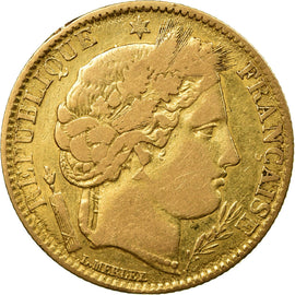 Coin, France, Cérès, 10 Francs, 1851, Paris, VF(20-25), Gold, KM:770