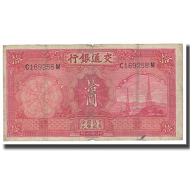 Banknote, China, 10 Yüan, 1935, KM:155, VF(20-25)
