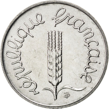 FRANCE, Épi, Centime, 1984, Paris, KM #928, MS(63), Stainless Steel, 15, Gadoury