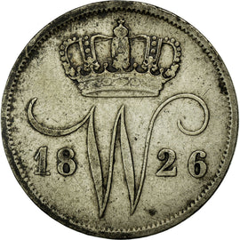 Coin, Netherlands, William I, 10 Cents, 1826, EF(40-45), Silver, KM:53