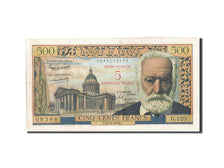 Banknote, France, 5 Nouveaux Francs on 500 Francs, 1955-1959 Overprinted with