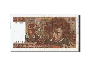 Banknote, France, 10 Francs, 10 F 1972-1978 ''Berlioz'', 1974, 1974-06-06