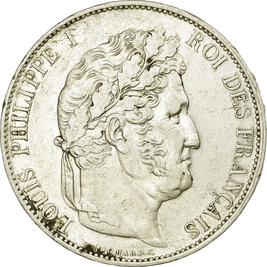 Coin, France, Louis-Philippe, 5 Francs, 1844, Lille, AU(50-53), Silver