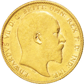 AUSTRALIA, Sovereign, 1907, Melbourne, KM #15, AU(50-53), Gold, 21, 7.98