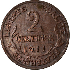 Coin, France, Dupuis, 2 Centimes, 1911, Paris, AU(50-53), Bronze, KM:841