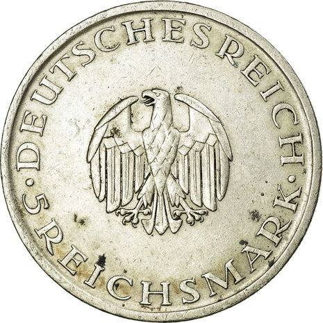 Coin, GERMANY, WEIMAR REPUBLIC, 5 Reichsmark, 1929, Berlin, AU(50-53), Silver