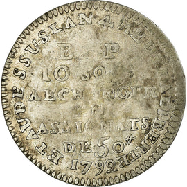 Coin, France, 10 Sols, 1792, Paris, VF(30-35), Silver, KM:Tn41, Brandon:242a