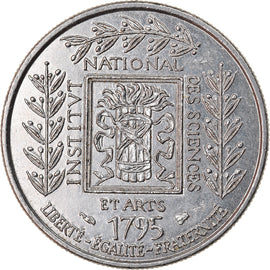 Coin, France, Institut, Franc, 1995, EF(40-45), Nickel, KM:1133, Gadoury:480