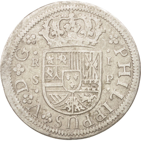 SPAIN, Real, 1728, Seville, KM #306.2, EF(40-45), Silver, 2.80