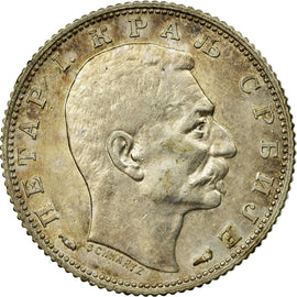 Coin, Serbia, Peter I, Dinar, 1915, EF(40-45), Silver, KM:25.1