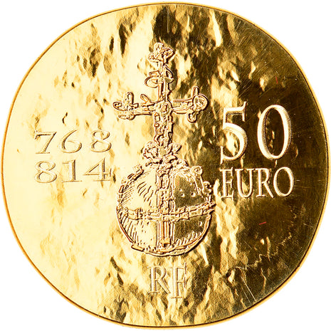 France, 50 Euro, Charlemagne, 2011, Paris, MS(65-70), Gold