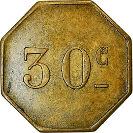 Coin, France, Casino Hôtel, Rosendaël, 30 Centimes, EF(40-45), Brass