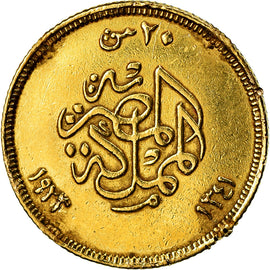 Coin, Egypt, Fuad I, 20 Piastres, 1923, British Royal Mint, VF(30-35), Gold