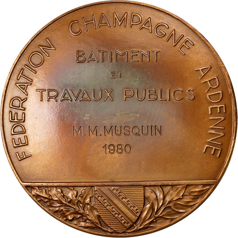 FRANCE, Business & industry, French Fifth Republic, Medal, 1980, AU(55-58),...