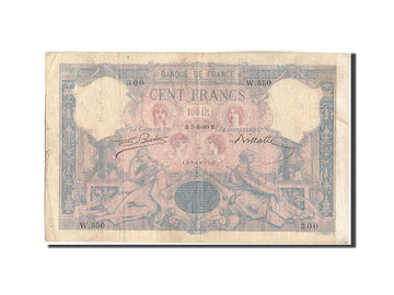 France, 100 Francs, 100 F 1888-1909 ''Bleu et Rose'', 1889, KM:65a, 1889-08-0...