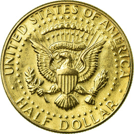 Coin, United States, Half Dollar, 1983, Denver, 1960 - 1980, EF(40-45), Gold