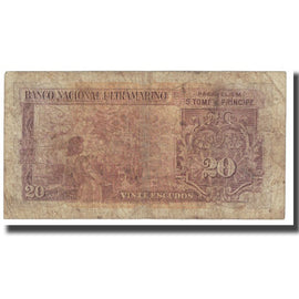 Banknote, Saint Thomas and Prince, 20 Escudos, 1958, 1958-11-20, KM:36a