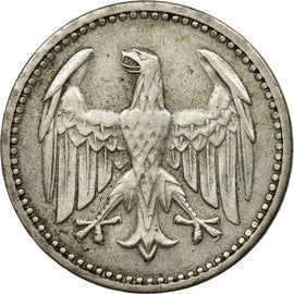 Coin, GERMANY, WEIMAR REPUBLIC, 3 Mark, 1924, Hamburg, EF(40-45), Silver, KM:43