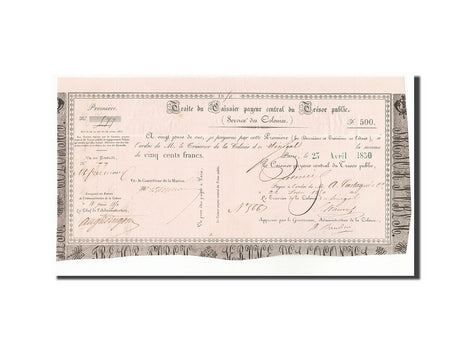 Senegal, 500 Francs, 1850, 1850-04-23, AU(55-58)