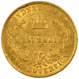 AUSTRALIA, Sovereign, 1867, Sydney, KM #4, AU(50-53), Gold, 8.00