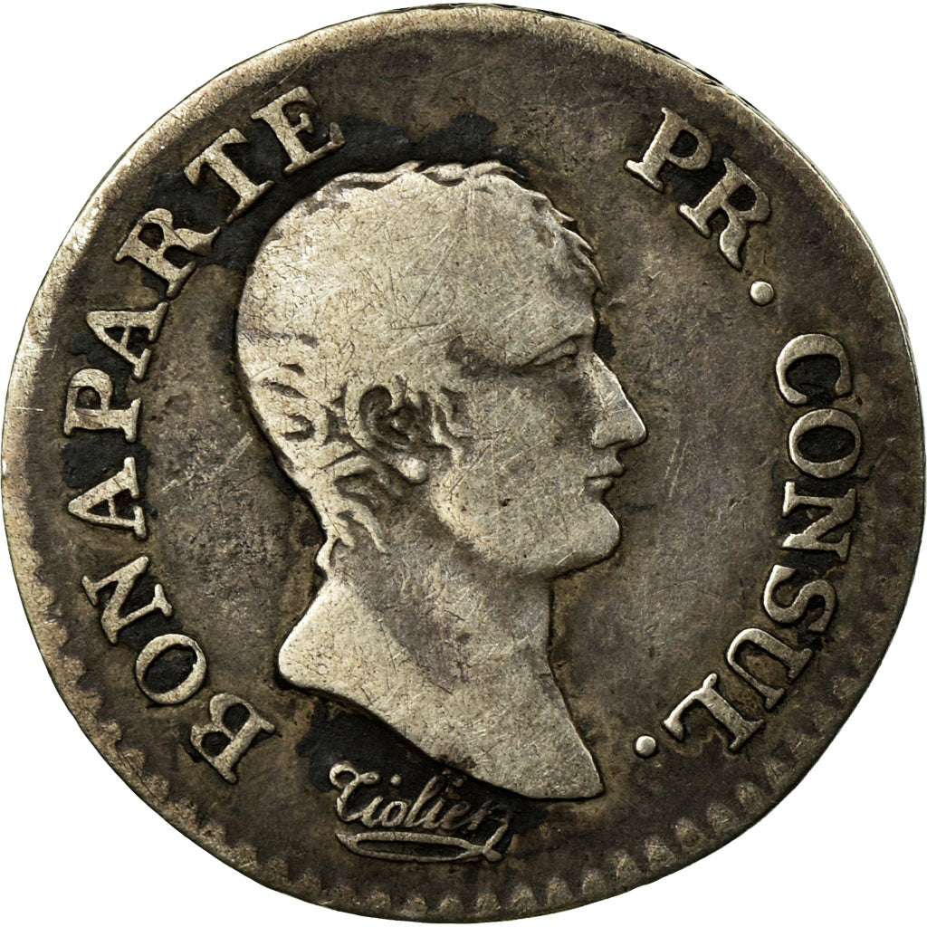 Coin, France, 1/4 Franc, 1803, Paris, VF(20-25), Silver, KM:653.1, Gadoury:342