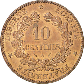 FRANCE, Cérès, 10 Centimes, 1895, Paris, KM #815.1, MS(60-62), Bronze, Gadoury #