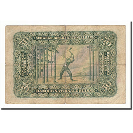 Switzerland, 50 Franken, 1924-55, 1924-04-01, KM:34a, VG(8-10)