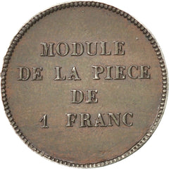 Coin, France, 1 Franc, AU(50-53), Tin, Gadoury:454