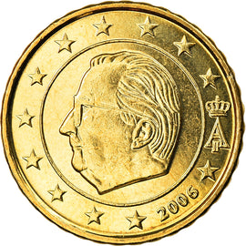 Belgium, 10 Euro Cent, 2006, Brussels, MS(63), Brass, KM:227