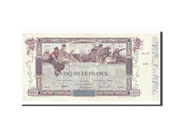 France, 5000 Francs, 5 000 F 1918 ''Flameng'', 1918, KM #76, 1918-01-02