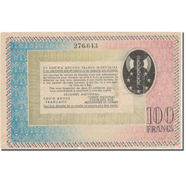 France, Secours National, 100 Francs, Undated (1941), VF(30-35)
