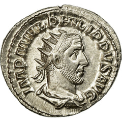 Coin, Philip I, Antoninianus, 245, Rome, MS(60-62), Billon, RIC:26b