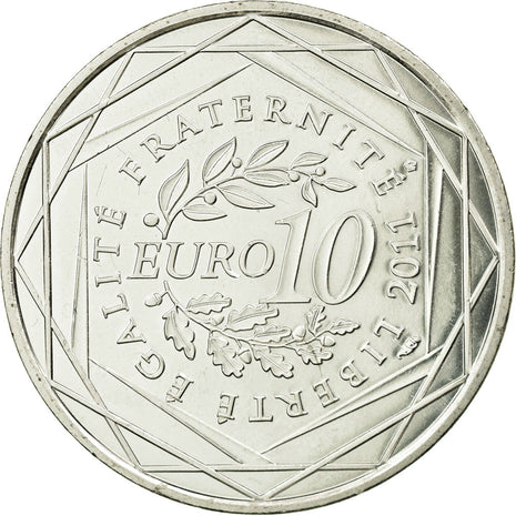 Coin, France, 10 Euro, 2011, MS(63), Silver, KM:1728