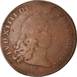France, Token, Royal, Louis XIV, États de Lille, 1677, VF(20-25), Copper
