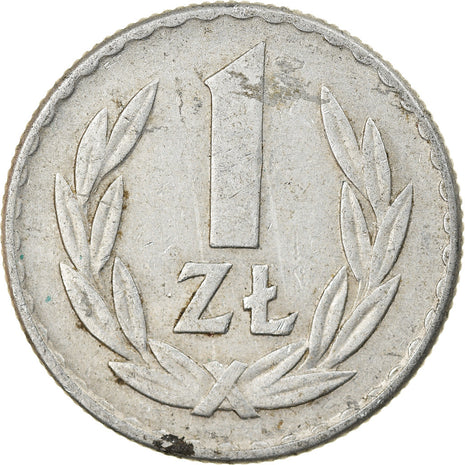 Coin, Poland, Zloty, 1965, Warsaw, EF(40-45), Aluminum, KM:49.1