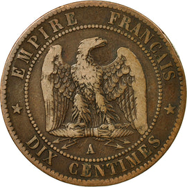 Coin, France, 10 Centimes, 1863, Paris, VF(30-35), Bronze, KM:798.1, Gadoury:253