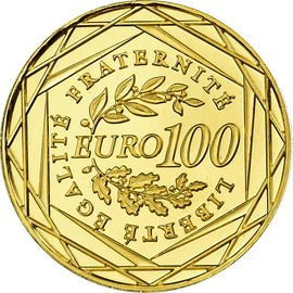 France, 100 Euro, 2009, MS(65-70), Gold