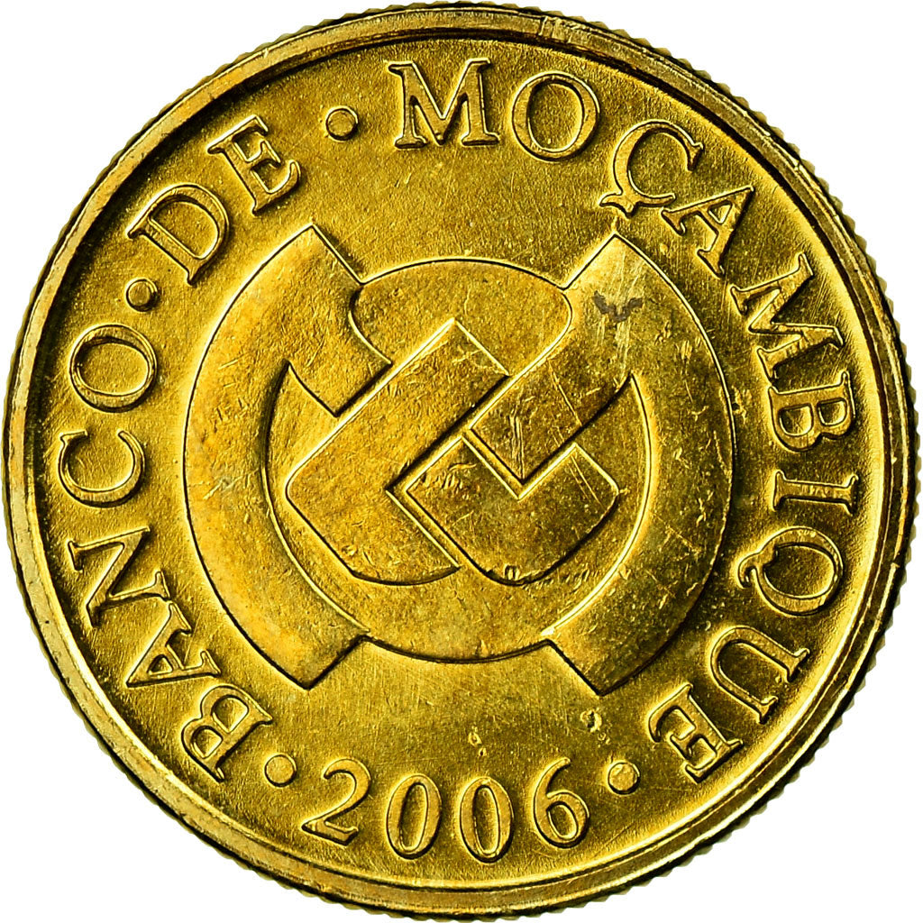 Coin, Mozambique, 10 Centavos, 2006, MS(63), Brass plated steel, KM:134