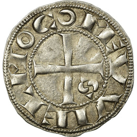 Coin, FRENCH STATES, Languedoc, Guillaume IX, Denier, Toulouse, AU(55-58)