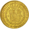 Coin, Spain, Charles IV, 4 Escudos, 1792, Madrid, MS(63), Gold, KM:436.1
