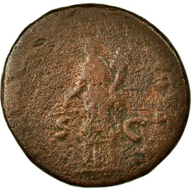 Coin, Domitia, As, VF(20-25), Copper, Cohen:333