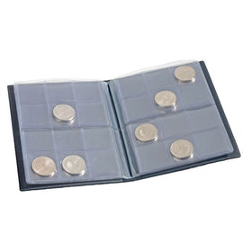 Coin Wallet with 8 Coin Sheets each for 12 coins, Blue, Leuchtturm:335392