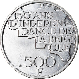 Coin, Belgium, 500 Francs, 500 Frank, 1980, Brussels, MS(60-62), Silver Clad